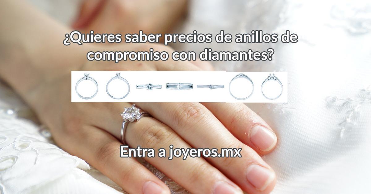 anillos de compromiso precio