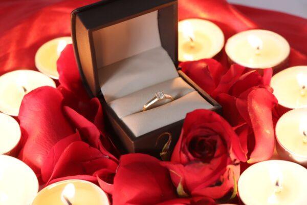 anillo diamante de oro