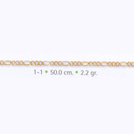 cadena de oro 3x1