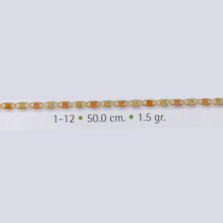 cadena de oro gucci delgada