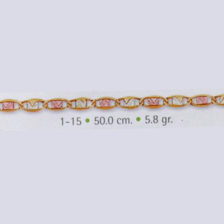 cadena de oro delgada