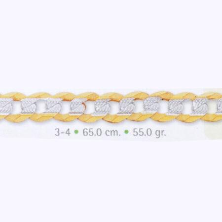 cadena de oro barbada