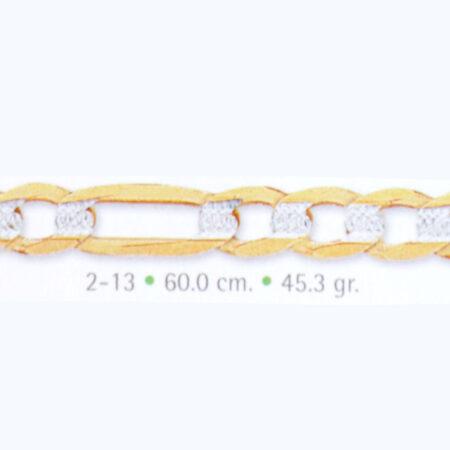 cadena de oro pave