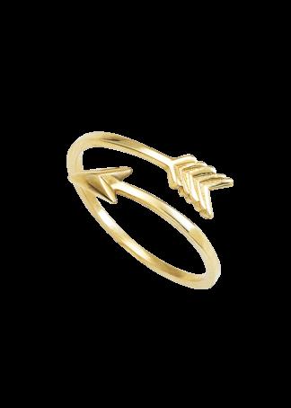 anillo oro flecha