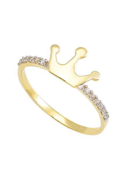 anillo oro corona