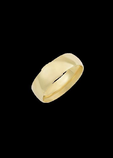 argolla de oro lisa