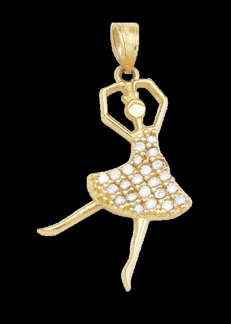 dije bailarina de oro