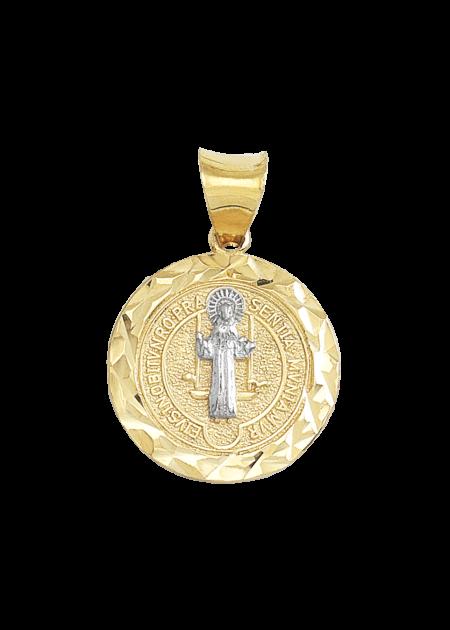Medalla de san benito de oro