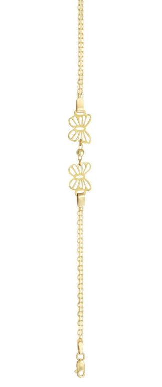 pulsera de oro mariposas
