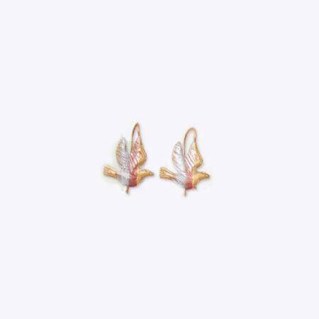 aretes de paloma de oro