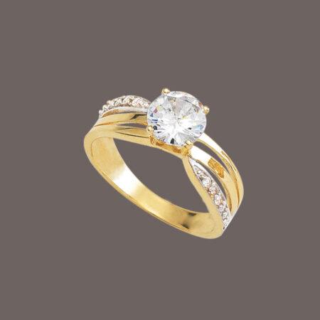 anillo solitario de oro