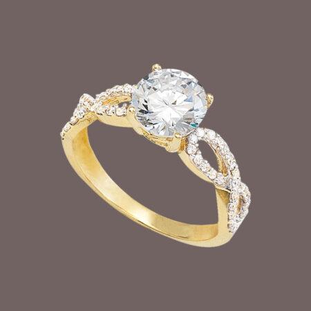 anillo de oro solitario
