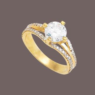 anillo solitario queen