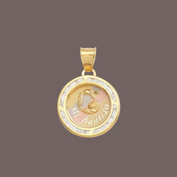 medalla bautizo de oro