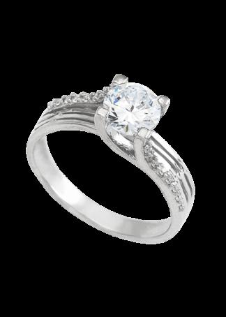 anillo de compromiso oro blanco 02