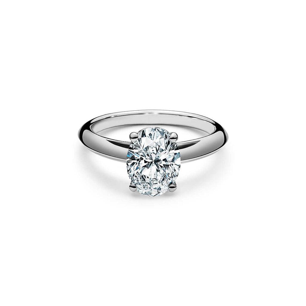 anillo compromiso ovalado