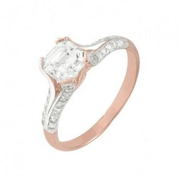 anillos de compromiso de oro rosado