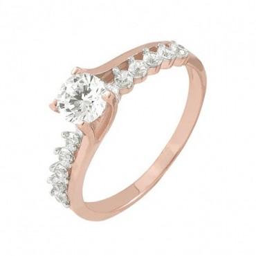 anillos de compromiso de oro con circonia