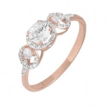 anillos de compromiso de oro delgado