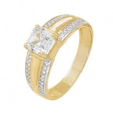 anillos de compromiso de oro amarillo