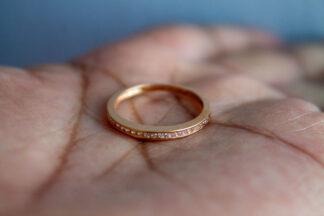 anillo de promesa oro rosa