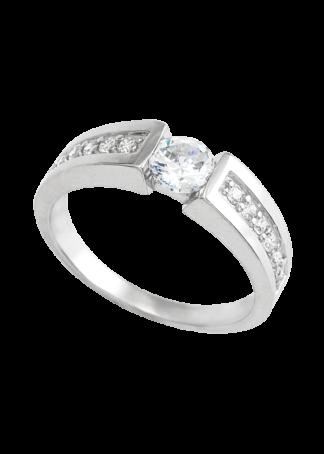 anillo de compromiso oro blanco 03