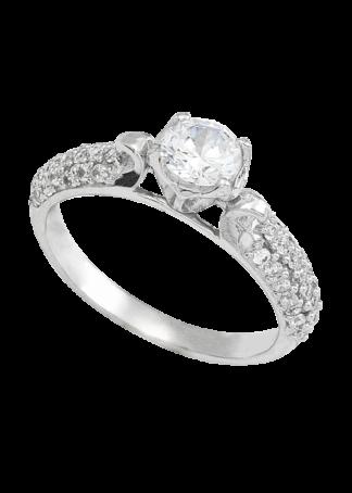 anillo de compromiso oro blanco 04