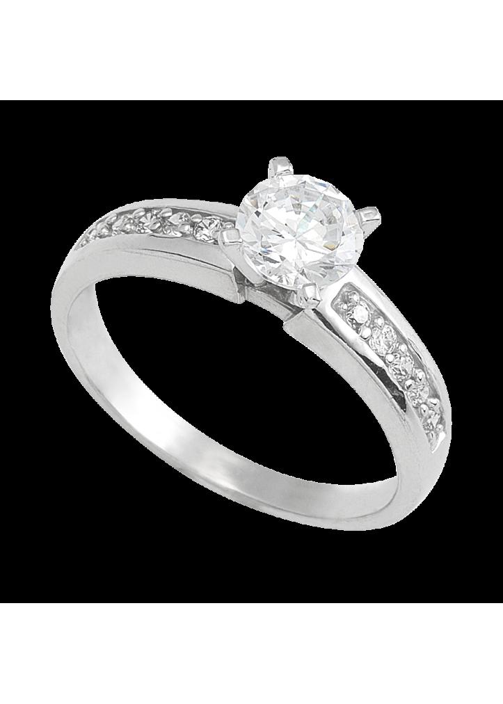 anillo de compromiso oro blanco 05