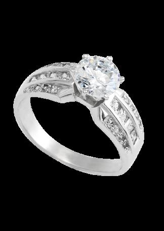 anillo de compromiso oro blanco 06