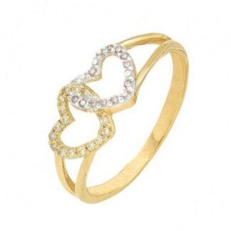 anillo de promesa con corazones