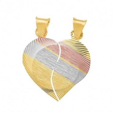 corazón de oro para novios