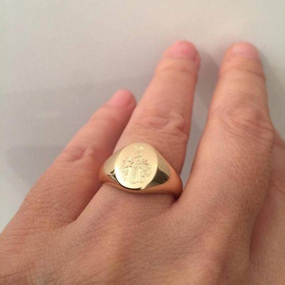 anillos de oro para hombre