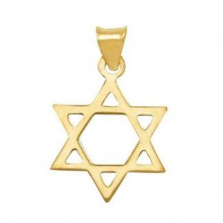 estrella de david de oro